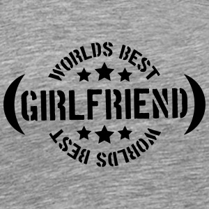 Worlds best Girlfriend Logo T-Shirts - Men's Premium T-Shirt