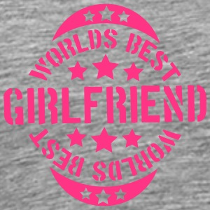 Worlds best Girlfriend Stempel Design T-Shirts - Men's Premium T-Shirt