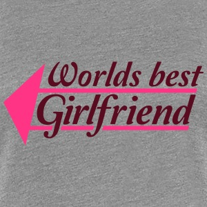 Worlds best Girlfriend Pfeil T-Shirts - Frauen Premium T-Shirt
