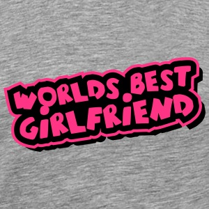 Worlds best Girlfriend Comic Cartoon T-Shirts - Männer Premium T-Shirt