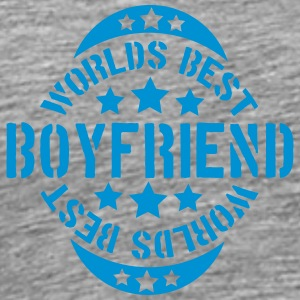 Worlds best Boyfriend Stempel Design T-Shirts - Men's Premium T-Shirt