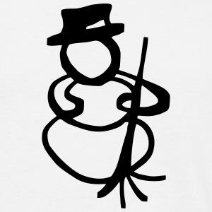 Snowman with broom T-Shirts - Men's T-Shirt