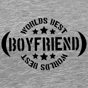 Worlds best Boyfriend Logo T-Shirts - Men's Premium T-Shirt