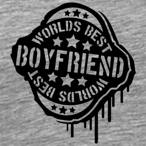 Worlds best Boyfriend Graffiti Stempel T-Shirts - Men's Premium T-Shirt