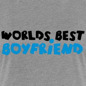 Worlds best Boyfriend Comic Design T-Shirts - Frauen Premium T-Shirt