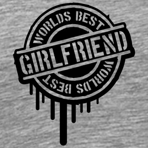 Stempel Worlds best Girlfriend Graffiti T-Shirts - Men's Premium T-Shirt