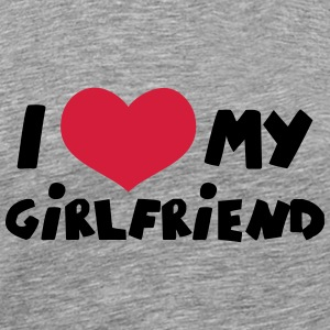 I Love my Girlfriend Comic Toon T-Shirts - Männer Premium T-Shirt