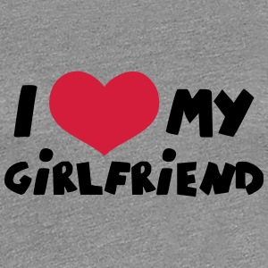 I Love my Girlfriend Comic Toon T-Shirts - Women's Premium T-Shirt