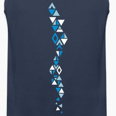 An elongated pattern with different triangles Tank Tops