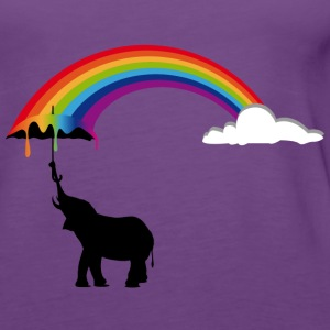 Elephant and Rainbow  Tops - Women's Premium Tank Top