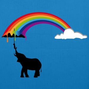Elephant and Rainbow  Bags & Backpacks - EarthPositive Tote Bag