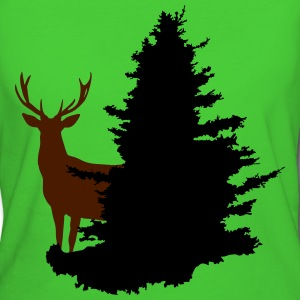stag and tree - Women's Organic T-shirt