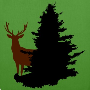 stag and tree - EarthPositive Tote Bag