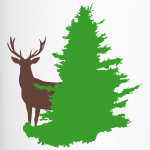 stag and tree - Travel Mug