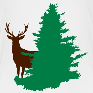 stag and tree - Teenage Premium T-Shirt