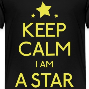 keep calm star holde ro star Skjorter - Premium T-skjorte for barn