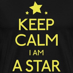 keep calm star holde roen star T-shirts - Herre premium T-shirt