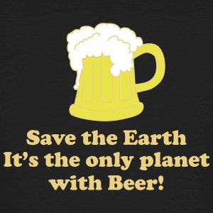 save earth and beer Tee shirts - T-shirt bio Homme