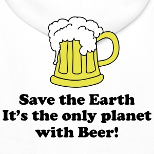 save earth and beer Sweat-shirts - Sweat-shirt à capuche Premium pour hommes
