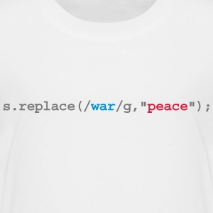 replace war with peace T-Shirts - Teenager Premium T-Shirt