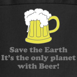 save earth and beer  Aprons - Cooking Apron