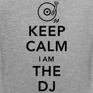 keep calm i am deejay dj Tank Tops - Men's Premium Tank Top