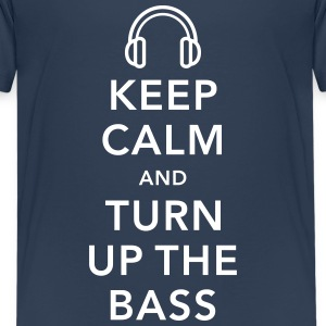keep calm and turn up the bass Shirts - Teenager Premium T-shirt