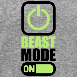 On Power An Beast Mode T-Shirts - Männer Premium T-Shirt