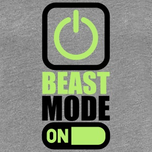 On Power An Beast Mode T-Shirts - Women's Premium T-Shirt