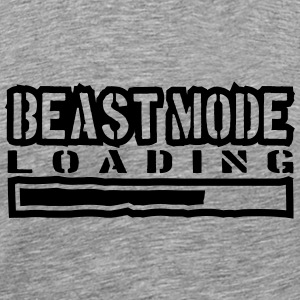 Beest-modus Power laden T-shirts - Mannen Premium T-shirt