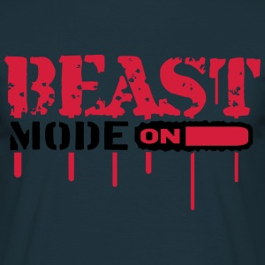 Beast Mode On An Blut Graffit T-Shirts - Men's T-Shirt