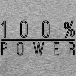 Logo Design 100% Power T-shirts - Mannen Premium T-shirt