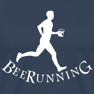 beer runner T-shirts - Herre premium T-shirt