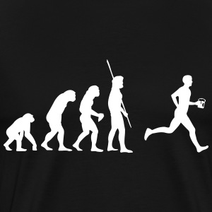 Evolutie Beer Runner T-shirts - Mannen Premium T-shirt