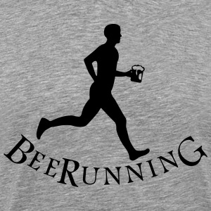 beer runner T-shirts - Mannen Premium T-shirt