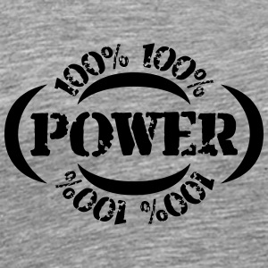 Cool 100% Power Stempel T-Shirts - Men's Premium T-Shirt