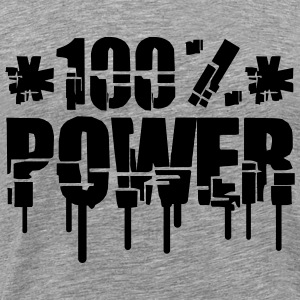 Broken Graffiti 100% Power T-Shirts - Men's Premium T-Shirt