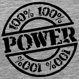 100% Power Stempel Design T-Shirts - Men's Premium T-Shirt