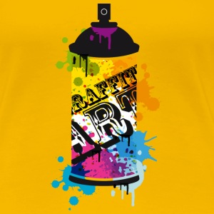 A spray can in graffiti style  T-Shirts - Women's Premium T-Shirt