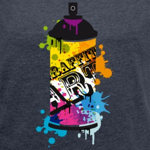 A spray can in graffiti style  T-Shirts - Women's T-shirt with rolled up sleeves