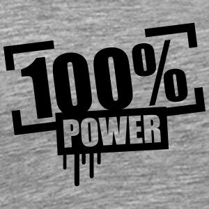 100% Power Stempel T-Shirts - Men's Premium T-Shirt