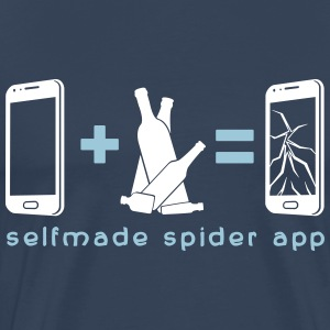 selfmade spider app T-shirts - Herre premium T-shirt