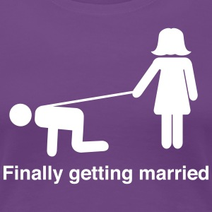 Finally Getting Married Leash T-Shirts - Women's Premium T-Shirt