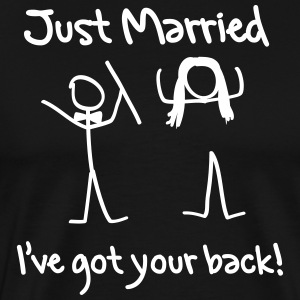 Just Married I've Got Your Back T-Shirts - Men's Premium T-Shirt