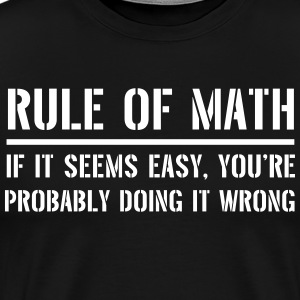Rule of Math T-Shirts - Men's Premium T-Shirt