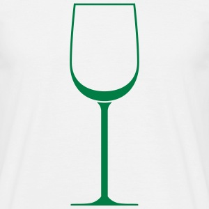 White wine glass - T-shirt Homme