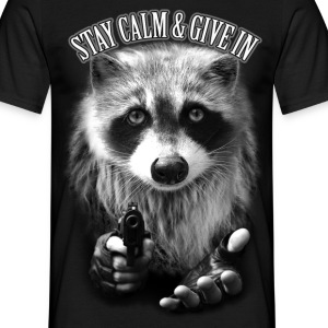 Sort STAY CALM & GIVE IN T-shirts - Herre-T-shirt