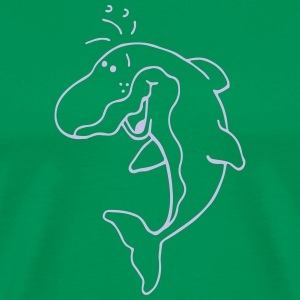 Happy Dolphin - Dolphins - Marine T-Shirts - Men's Premium T-Shirt