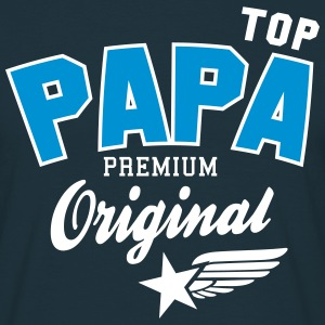 Original TOP PAPA - Premium 2 Color Dad T-shirts - T-shirt herr
