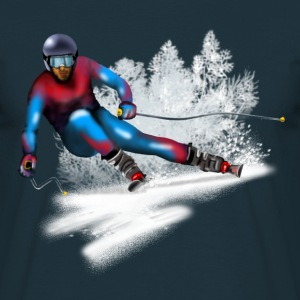 skiing Tee shirts - T-shirt Homme